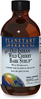 Planetary Herbals Old Indian Wild Cherry Bark Syrup With Echinacea - Natural - 16 oz
