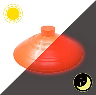Dynasty Toys Outdoor Games Soccer Cones | Set of 10 Orange Cones - Great for Kickball Bases and All Sports Including Soccer and Football