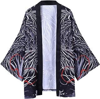 ANJUNIE Women Men Lovers Retro Robe Cardigan Oversize National Print Jacket Kimono T-Shirt Top Outwear
