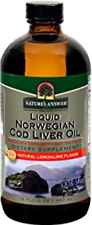 Nature's Answer Norwegian Cod Liver Oil Lemon, Lemon 16 Oz by Nature's Answer