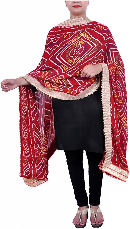 APRATIM Women's Crepe Silk Dupatta