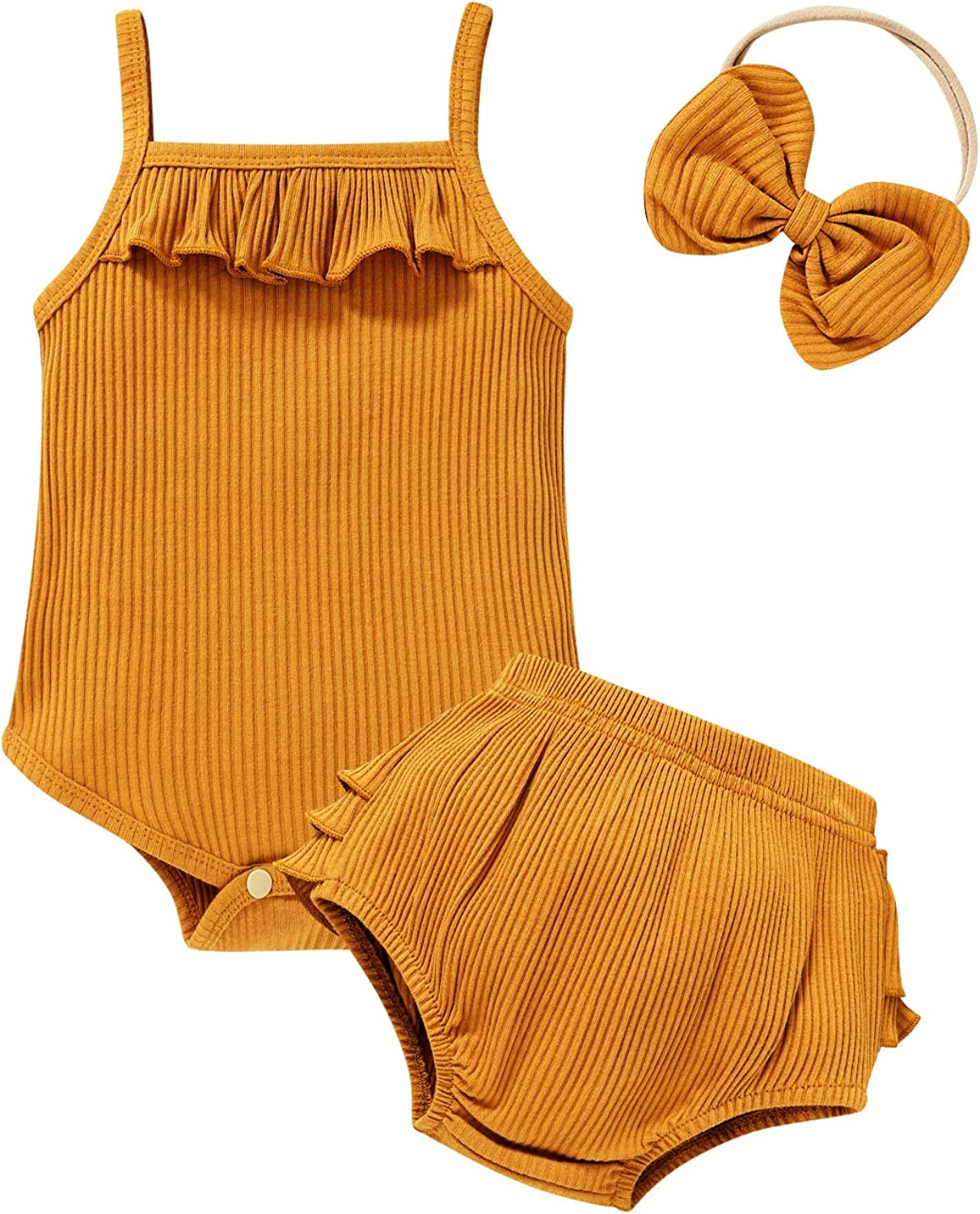 Infant Baby Girl Clothes Strap 25% OFF Romper Ruffle Brand Cheap Sale Venue and Hea with Shorts