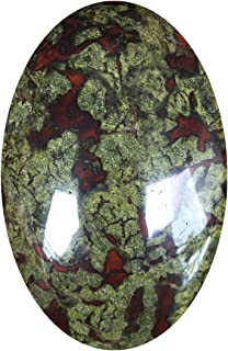 favoramulet Oval Palm Stone, Enegry Worry Pocket Stones Healing Crystal Pebble Soap Shaped, Dragon Blood Stone