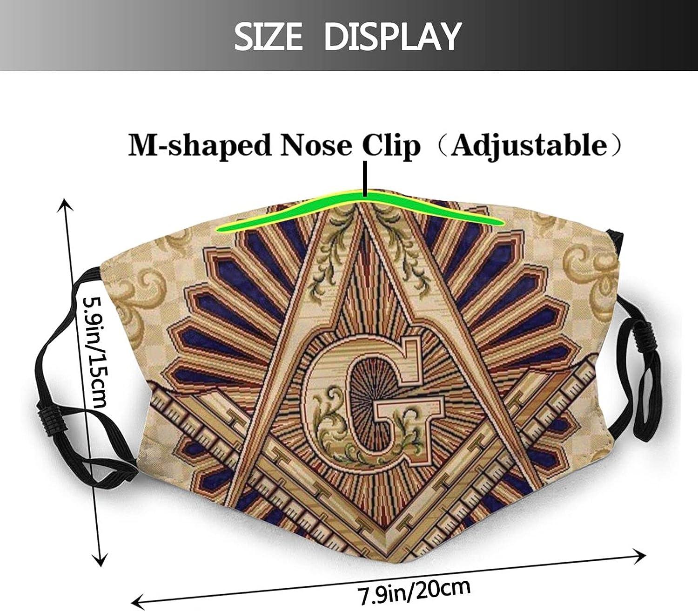 Freemasonry Face Mask, Masonic Lodge Mask Balaclava Washable Reusable with Pocket for Women & Men