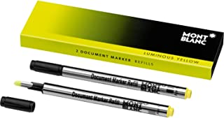 Montblanc Document Marker Refills Luminous Yellow 105168 – Highlighter Refills in Bright Yellow – 2 x Pen Refills