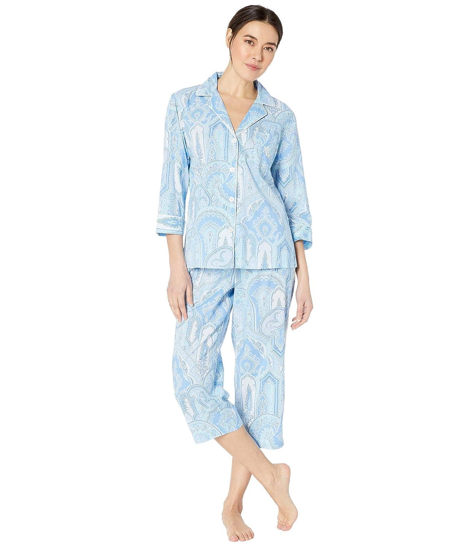 [ラルフローレン] レディース ナイトウェア Pointed Notch Collar Capris Pajama Set [並行輸入品]