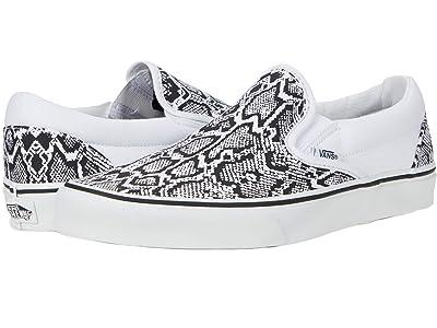 Vans Classic Slip-On ((Python) White/True White) Skate Shoes
