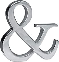 LL Imports Monogram Word Art Tabletop Ampersand (&), Polished Aluminum, 6-inch