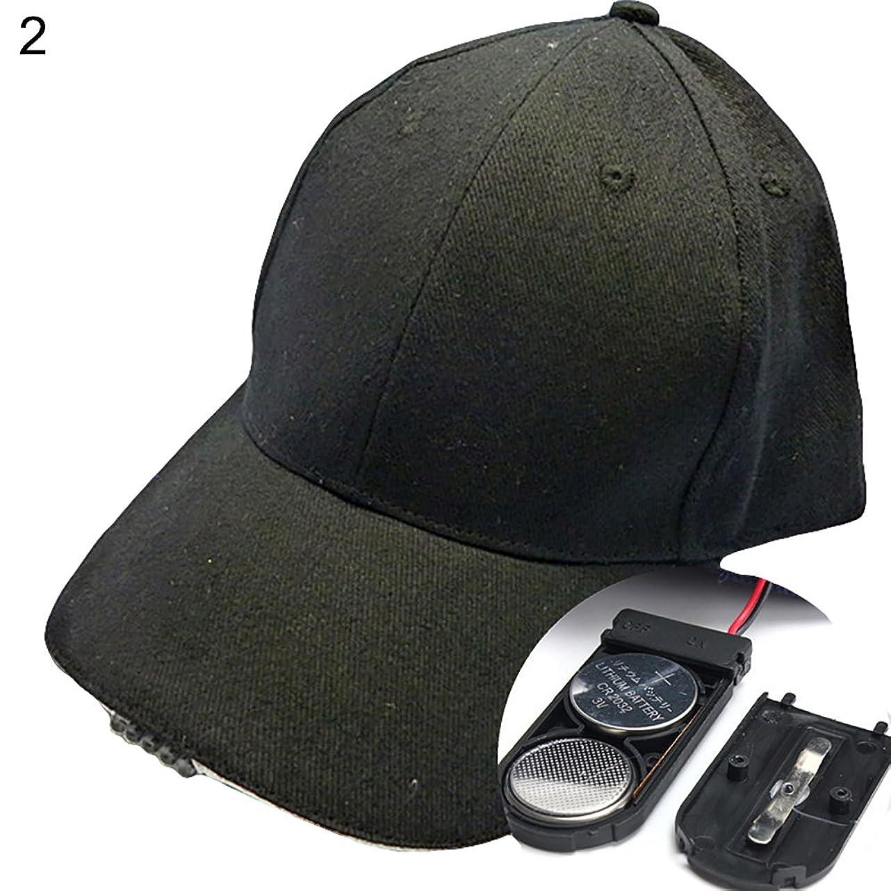 高架薬疎外する856storeキャンプ釣りLEDライトキャップ、充電式/バッテリーキャンプ釣り野球コットンピークメンズ帽子