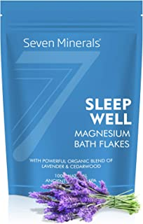 Sleep Well Magnesium Chloride Flakes 3lb – Absorbs Better Than Epsom Salt - Unique & Natural Full Bath Soak Formula for In...