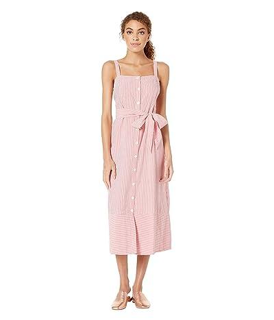Michael Stars Pacifica Stripe Raina Button Front Dress (Pink Multi) Women