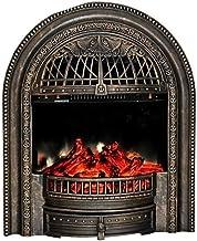 Chimenea eléctrica - Estufa eléctrica con Mando a Distancia 750 W 1500 W Temperatura Regulable Chimenea Decorativa con Efecto Quemador de leña Dorado