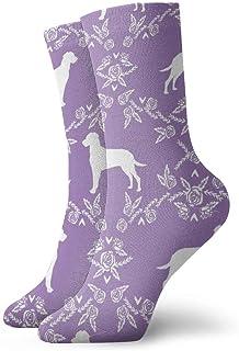 Dal Floral Sil 2 - Calcetines de algodón acolchados para entrenamiento, senderismo, deportes, para hombres y mujeres