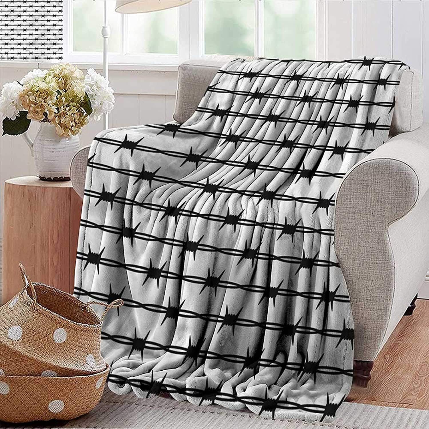 Xaviera Doherty Summer Blanket Barbed Wire,Fence Predection Design Weighted Blanket for Adults Kids, Better Deeper Sleep 35 x60
