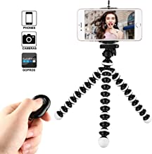 Phone Tripod, Kamisafe Portable Flexible Cell Phone Tripod Adjustable Camera Stand Holder with Wireless Remote Compatible for iPhone 11 Pro Xs MAX XR X 8 7 6S Plus Android Galaxy S10 S9 S8 Note8 LG