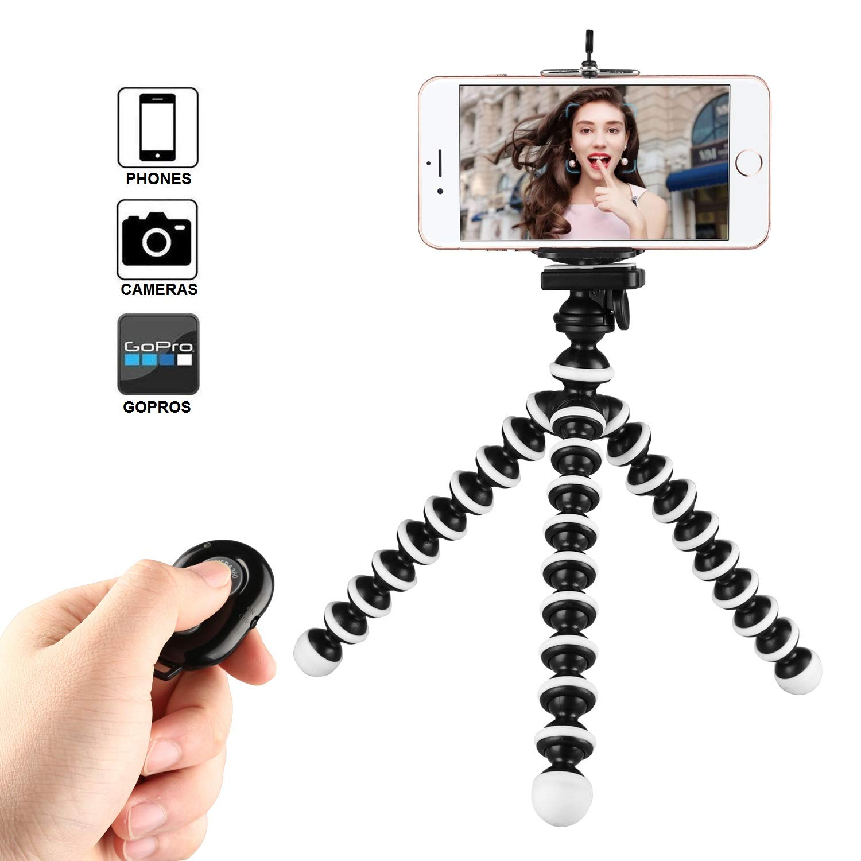 Kamisafe Octopus Style Mini Trípode Ajustable Flexible Teléfono Trípode Stand: Amazon.es: Electrónica