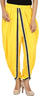 Khazana Basics Yellow Color Rayon Dhoti Pant for Women (JTDH5101, Yellow)