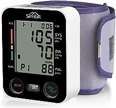 SIMBR Tensiómetro de muñeca Monitor de presión arterial Alta precisión y fiabilidad Gran pantalla LCD con Memoria (2 * 90) para 2 Usuarios