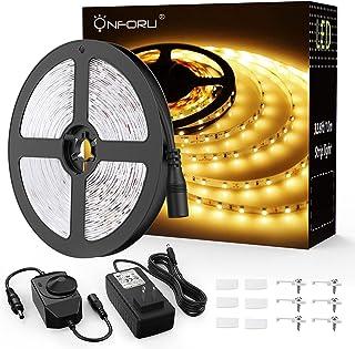Onforu 33ft Dimmable LED Strip Lights Kit 600 Units SMD 2835 LEDs 12V Under Cabinet Lighting Strips 10M LED Ribbon Non-Wat...