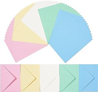 perfect ideaz 50cartes pliantes colorées avec enveloppe 11x15,5cm, fabriquées de manière durable en Allemagne, double car...