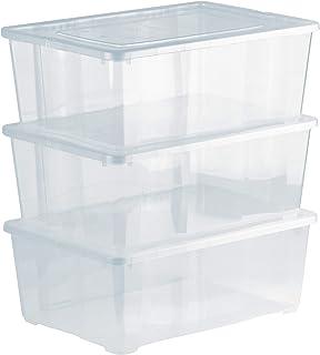 Grizzly 3 x Caja de Almacenaje con Tapa de 10 L - Cajón de
