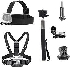 VVHOOY 3 in 1 Universal Waterproof Accessories Action Action Accessories Kit Kit - ستون بند / قفسه سینه / چوب سلفی سازگار با Gopro Hero 7 6 5 / AKASO EK7000 / APEMAN / ODRVM / دوربین اکشن Crosstour
