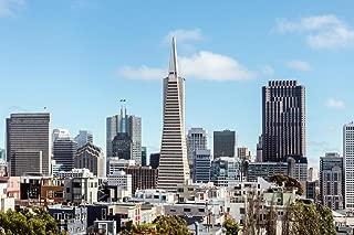 San Francisco Transamerica Pyramid Panorama Photo Art Print Cool Huge Large Giant Poster Art 54x36