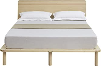 Cali Double Wooden Bed Base Bed Frame with Headboard - Natural