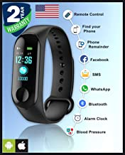 Priish® 2020 Upgraded Version v.3.2020 Smart Watch Band Waterproof Strap Fitness Tracker Watch Heart Rate Activity Tracker Pedometer Waterproof Steps Calorie Counter Blood Pressure Heart Rate Monitor (Unisex)