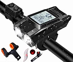 Fietsverlichting Ingebouwde HD-achtergrondverlichting LCD Draadloze snelheidsmeter, 4000 mAh Upgrade Batterijen met hoge c...