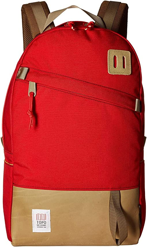 Red/Khaki Leather