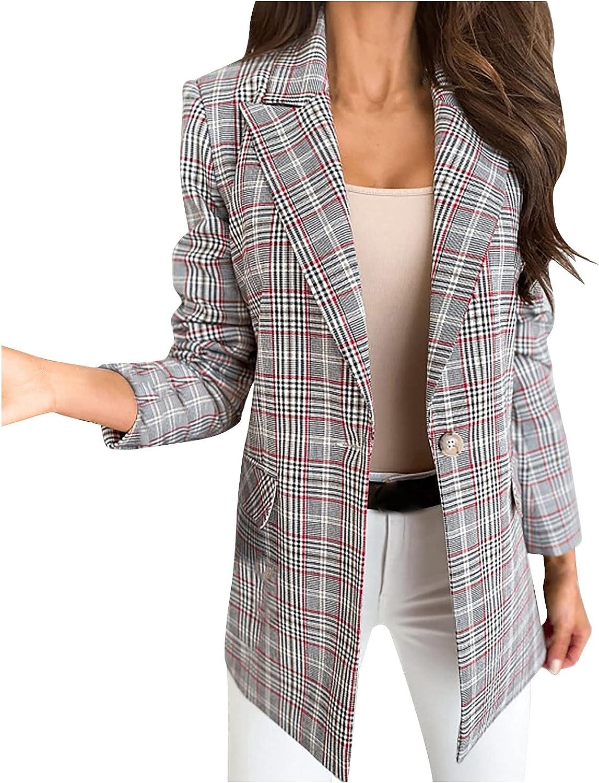 VonVonCo Cardigan Sweaters for Women Lattice Open Front Cardigan Formal Suit Long Sleeve Slim Blouse Coat