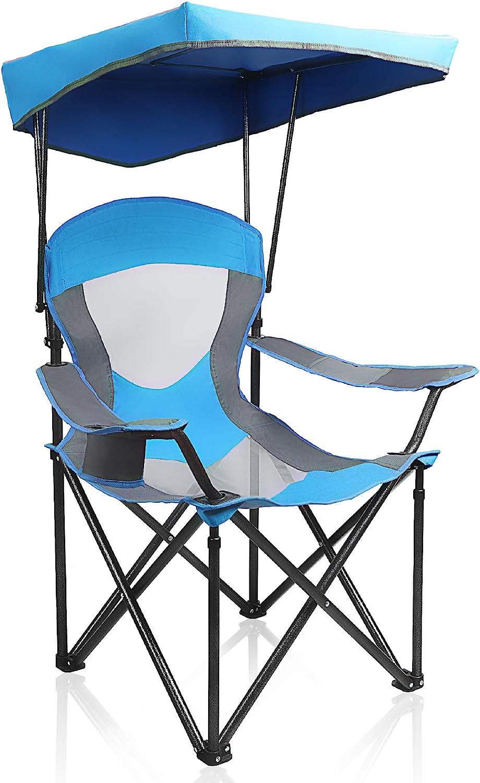 ALPHA CAMP Heavy Duty Canopy Lounge Hiking Arlington Mall Chair Travel New sales Sunshade