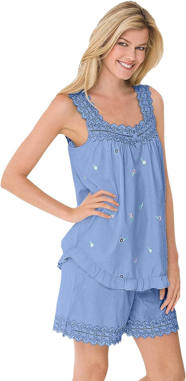 Dreams & Co. Women's Plus Size 2-Piece Short Pj Set Pajamas