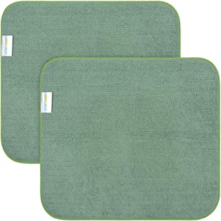Microfiber Dish Drying Mat Super Absorbent Dish Drying Rack Pads Kitchen Counter Mat (16Inch X 18Inch, dgreenx2)