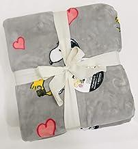 "Peanuts Gang Snoopy & Woodstock Valentines Velvet Soft Plush Full/Queen Bed Blanket by Berkshire Blanket & Home Co. | 90"" ..."