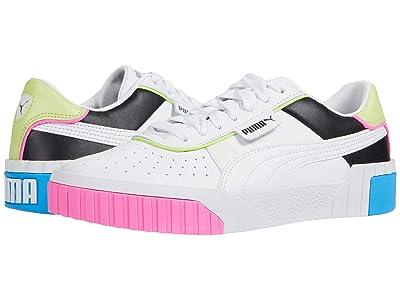 PUMA Cali Color Blocking (Puma White/Puma Black/Sharp Green) Women