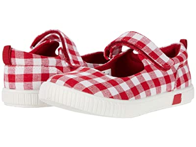 Livie & Luca Skip (Toddler/Little Kid) (Red Gingham) Girl