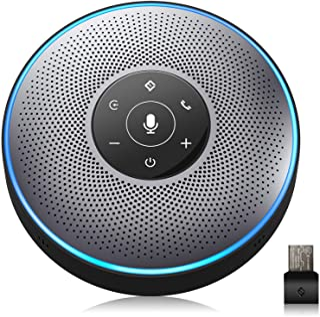 Bluetooth Speakerphone - eMeet M2 Gray Conference Speakerphone for 5-8 People Business Conference Call 360º Voice Pickup 4...