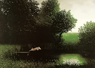 Laminated Diving Pig Michael Sowa Jumping Off Dock Kohler's Schwein Funny Print Poster 20x28