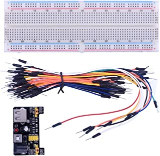 with ArduinoIDE Starter Kits Longruner 830 MB-102 Tie Points Solderless Breadboard + 3.3V 5V Power Supply Module + 65pcs J...