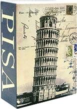Livro 007 Caixa Cofre de Metal Route 66 Eiffel Torre Pisa + Chaveiro - 18cm
