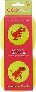[クロコダイル クリーク]Crocodile Creek Kids Eco Reusable Dinosaur TRex Snack Keeper , Green 6517-5 [並行輸入品]
