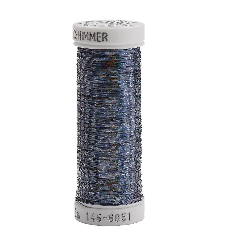 Sulky Of America Holoshimmer Polyester Metallic Thread, 250 yd, Artic Black