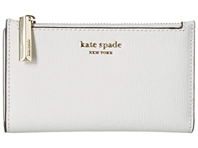 Kate Spade New York Small Slim Bifold Wallet (Optic White) Wallet Handbags