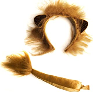 Lion Ears and Tail Set - Lion Costume - Ears Headband - Animal Headbands with Ears