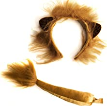 Funny Party Hats Lion Ears and Tail Set - Lion Costume - Ears Headband - Animal Headbands with Ears