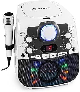 auna StarMaker 2.0 karaoke-installatie, Bluetooth functie, cd-speler, voor CD, CD + G, CD-RW, incl. microfoon, 2 microfoon...