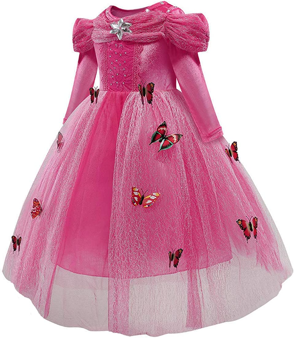Girls Princess Dress up Costume Butterfly Fancy Party Dresses for Halloween Christmas