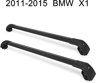 Autekcomma Roof Rack Cross Bars for BMW X1 2010 2011 2012 2013 2014 2015 2016 2017 Aircraft Aluminum Black Matte with Anti-Theft Locks Max Loading Up to 260 LB